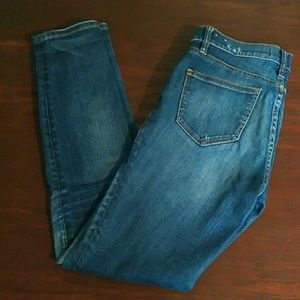 Madewell Skinny Skinny Jeans w/ Distressing